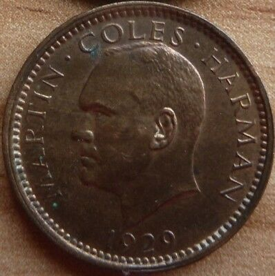 1/2 Puffin Penny 1929 Lundy nur 50.000 Expl.
