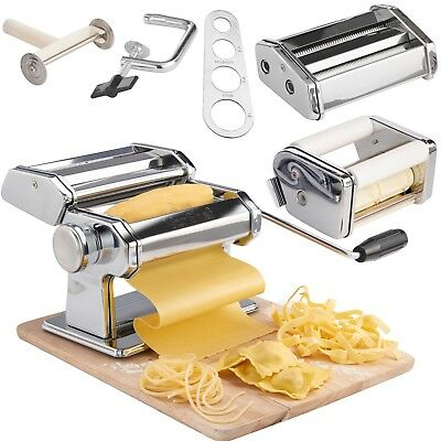 Professional 3 in 1 Pasta Maker Machine Stainless Steel Home Made Pasta Dishes