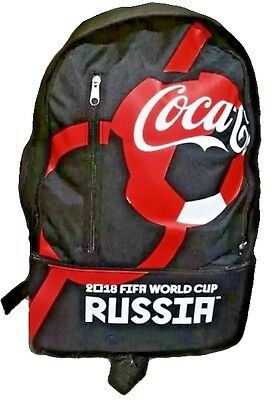 New Black Coca Cola Backpack ⚽ Fifa World Cup Russia 2018 ⚽ Coke School Bag