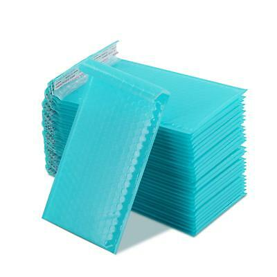 Yomuse B/00 Packaging Padded Bubble Mailers 130mm x 210mm 40mm Lip, 50 Pcs, Teal