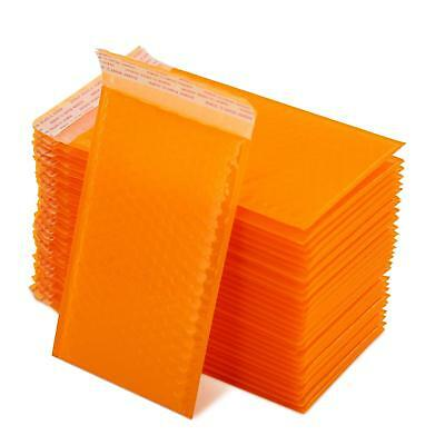 Yomuse B/00 50 Pcs Packaging Padded Bubble Mailers 130mm x 210mm 40mm Lip Orange