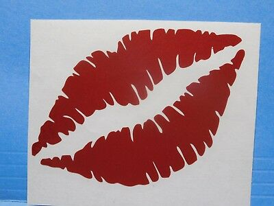Kissing Lips Glitter Red Vinyl Window Car Tattoo Decal Sticker 4""