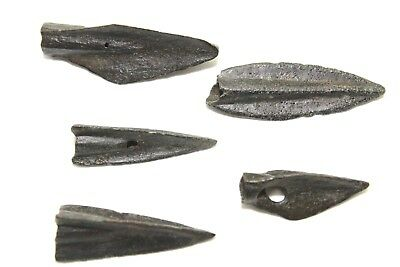 Ancient Greek Era Arrowheads. Bronze.  2V179