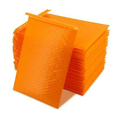 Yomuse 50 Pcs Packaging Padded Bubble Plastic Mailers 190mm x 260mm 40mm Orange