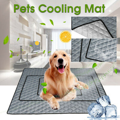 AU Pets Dog Cat Cooling Chilly Mat Non-Toxic Cool Pad Bed Hot Summer Heat Relief