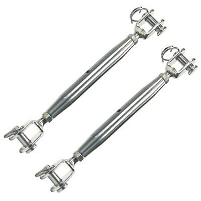 4 x Heavy Duty Marine Grade 316Stainless Steel Jaw/Jaw Closed Body Turnbuckle M4