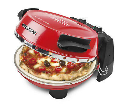 G3 Ferrari Electric Pizza Oven with Removeable Dual Cooking Stones 1200w - Red