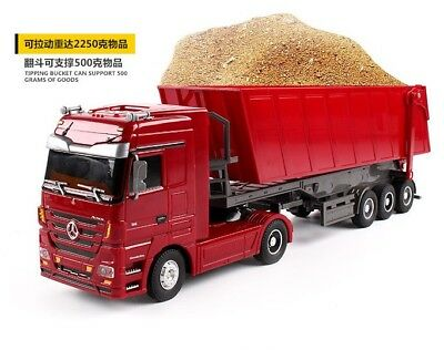 RC Truck 1:32 Dumper Tilting Cart RC Tip Lorry Engineering Container car Toys