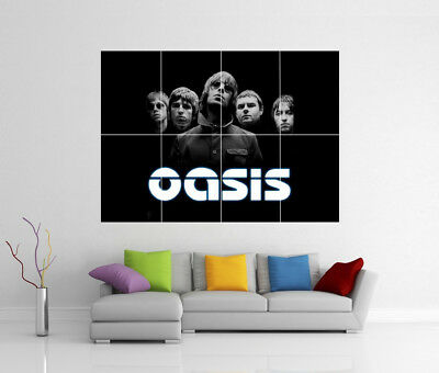 Oasis Noel & Liam Gallagher Giant Wall Art Print Poster