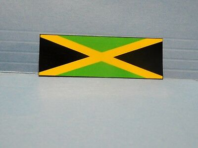 Jamaica Flag Bar/Banner Vinyl Window Car Tattoo Decal Sticker 5""