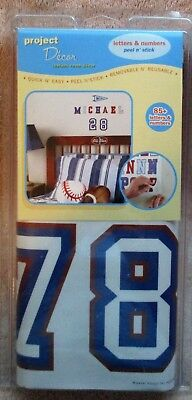 Project Decor 85 + Letters & Numbers, Peel N Stick , Repositionable, Easy To Do