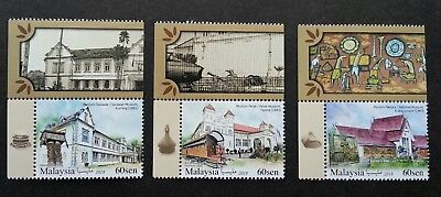 Stamps Malaysia 2018 Mnh Historical Museums Perak Museum 3v Set Architecture Stamps Stamps