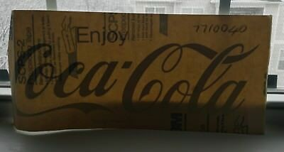 "Vintage ""ENJOY COCA-COLA"" WINDOW DECAL New-Old-Stock GRAY VINYL STICKER 16x7"""