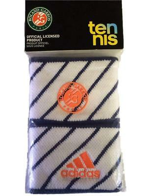 Adidas Wristband Set 2 Tennis Stretch Schweißbänder Garros - Weiß/nightblue