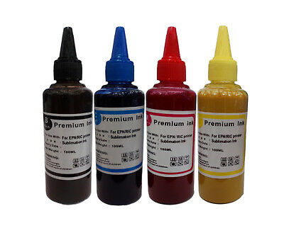 4 X100ML SUBLIMATION HEAT TRANSFER INK for RICOH SG2100N SG3100 SG3110DN GC-41