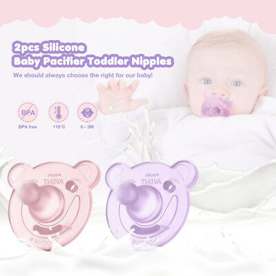 Philips Avent 2Pcs Baby Toddle Pacifier Safe Silicone Nipples Infant Soothers