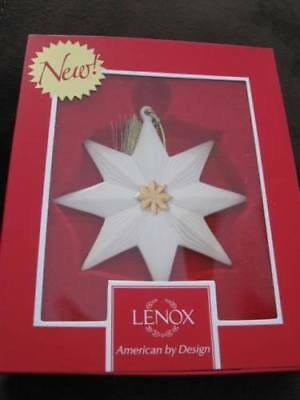"LENOX  Pleated STAR Christmas Ornament 3.5""  - New in Box"