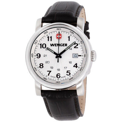 Wenger Urban Classic White Dial Leather Strap Men's Watch 011041101