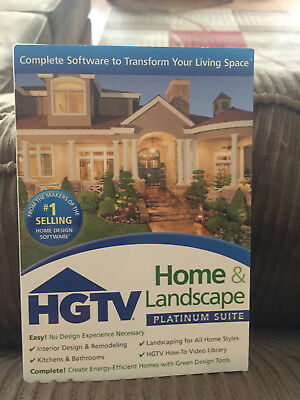 Software HGTV Home & Landscape Platinum Brand New Never Used $13 FREE SHIPPING