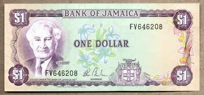 Jamaica UNC Note 1 Dollar 1985 P-68
