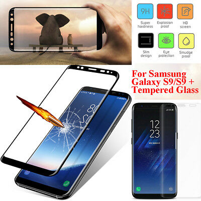 For Samsung Galaxy S9 3D Full Curved Temper Glass LCD Screen Protector Black II