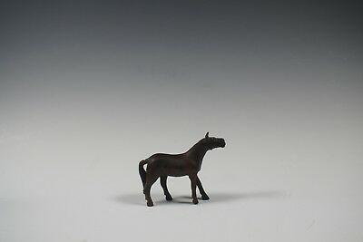 Lovely Chinese Antique Rosewood Miniature Figurine Carving Horse 19th Century
