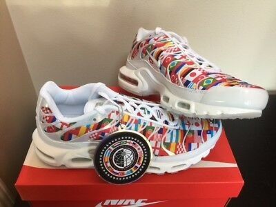 NIKE AIR MAX Plus + Nic QS White Multi World Cup Flags AO5117-100 ... 02c4d4a3d