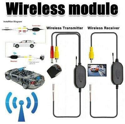 2.4Ghz Wireless RCA Video Trasmette & Riceve  Kit per  auto  Retro Camera