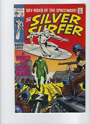 Silver Surfer #10 VF/NM or better beauty! Must CGC! News stand fresh Free Ship