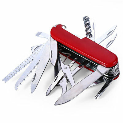 17 in 1 Multifunction Swiss Style Pocket Army Knife Camping Outdoor Survival New