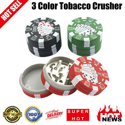 3 Colors Stocked 3 Layers Chip Style Herb Herbal Tobacco Grinder Weed Grinders