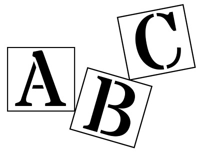 BIG ALPHABET STENCIL LETTERS OR NUMBERS 140mm HIGH (5 1/2inch) separate stencils