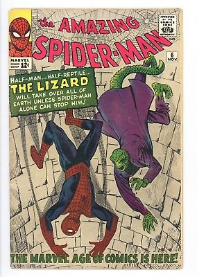 Amazing Spider-Man #6 Vol 1 Beautiful High Grade 1st Appearance of the Lizard