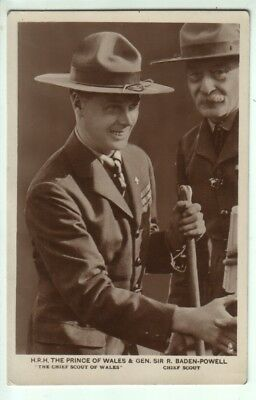 Boy Scouts - Prince of Wales with Baden Powell - Tuck