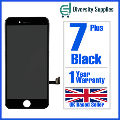 """Black For Apple iPhone 7 Plus 5.5""""LCD Display Touch Screen Digitizer Replacement"""