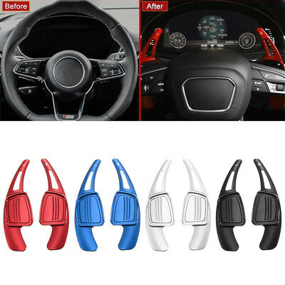 2Pcs Car Steering Wheel Shift Paddle Shifter For Audi A4L A5 S4  Q2 Q3 Q7 TT TTS