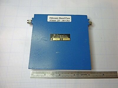 Filtronic Microwave Band Pass Filter Model F3444 .25 - .50 Ghz