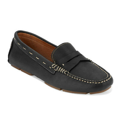 G.H. Bass & Co. Womens Patricia Genuine Leather Driving Slip-on Loafer Shoe