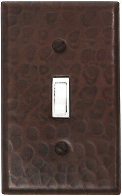 Hammered Copper Switch Plate Cover (LSC400) 1 Gang Single Toggle Switch w/screws