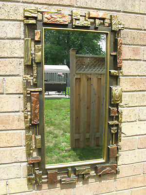 Brutalist Wall Mirror Mid Century Modern  Made By Syroco