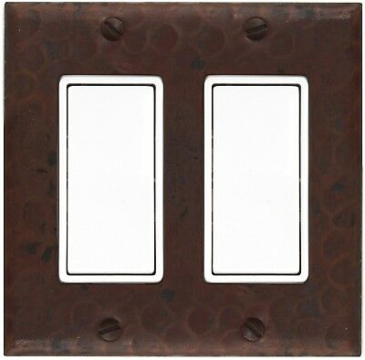 Hammered Copper Switch Plate Cover(LSC102)2 Gang Deco Decora GFI Double w/screws