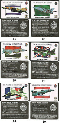 UK - lot lotto di 6 schede telefoniche - phonecards - AIRCRAFT of the WORLD