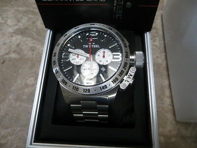 d4067fff1e6 TW STEEL CANTEEN Men s Silver 50mm Chronograph Watch Black Dial (CB4 ...