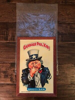 """1986 Vintage (Topps) """"GARBAGE PAIL KIDS"""" (Snooty Sam) """"3-D WALL PLAK"""" Plaque"""