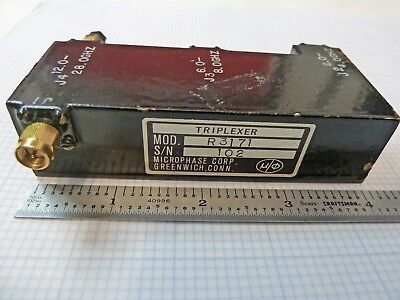 MICROPHASE Microwave Triplexer Model R3171