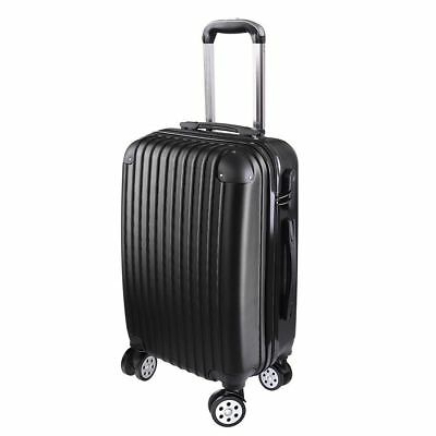 """20"""" Cabin Luggage Suitcase Code Lock Hard Shell Travel Case Carry On Bag Trolley"""