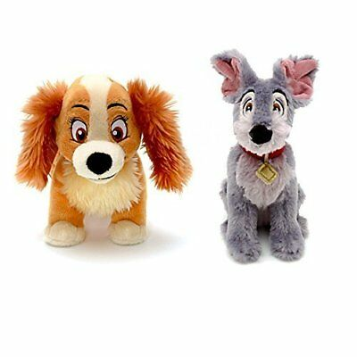 Official Disney Store Lady & The Tramp Soft Plush Toy Bundle Set of 2