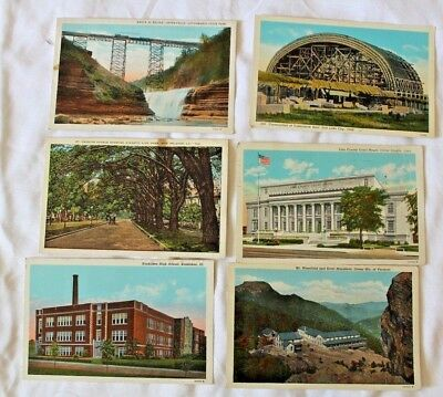 Lot of 6 LINEN Postcards All Different  Lot #19