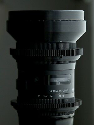 Sigma ART 18 - 35 | CINEMOD SET |  Lens Gear | lens cap | cinema Front