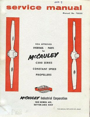 SERVICE MANUAL - McCAULEY C200 SERIES CONSTANT SPEED PROPELLERS